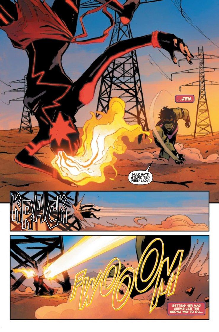 Капитан Марвел против Женщины Халка комикс