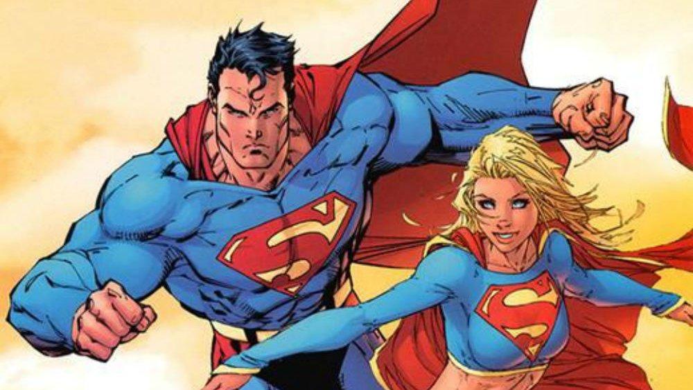 Супергерой DC Супермен и Супергерл истинные защитники человечества