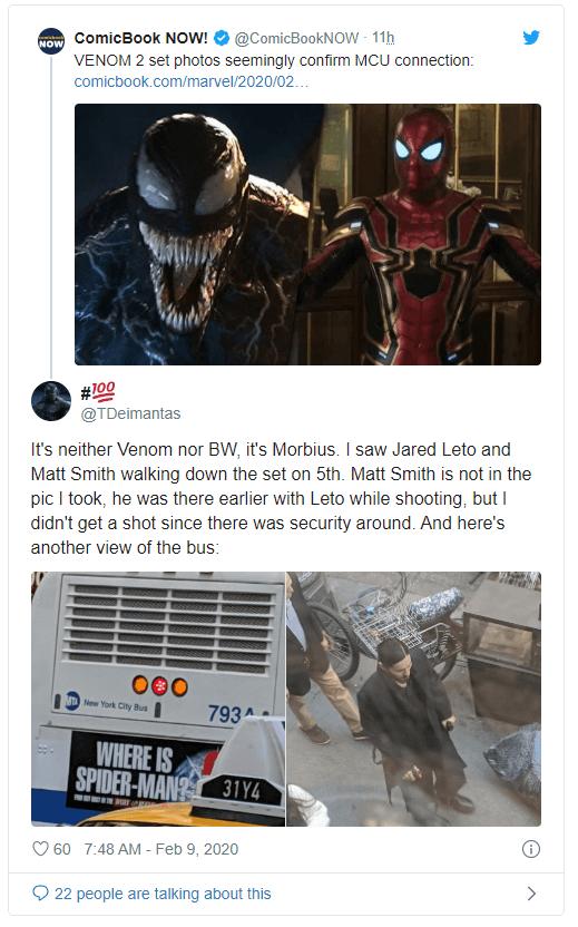 Человек-Паук появится в Веном 2