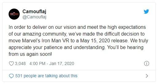 игру Железный Человек VR перенесли