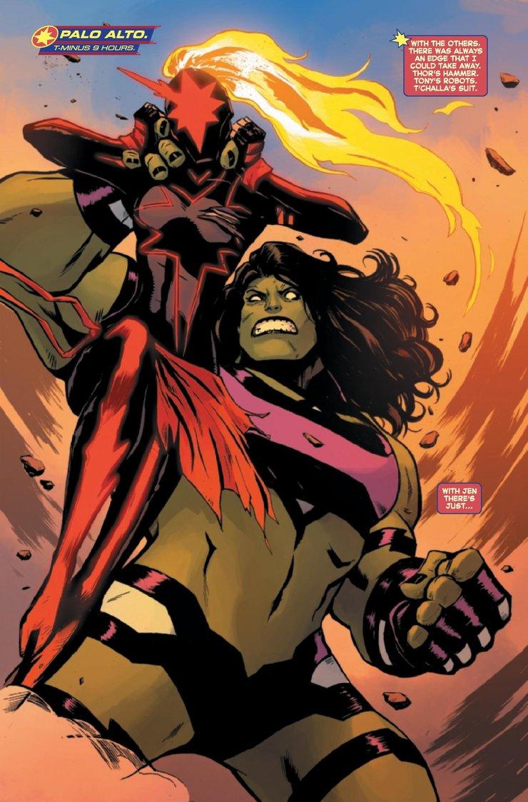 комикс Капитан Марвел против Женщины Халка
