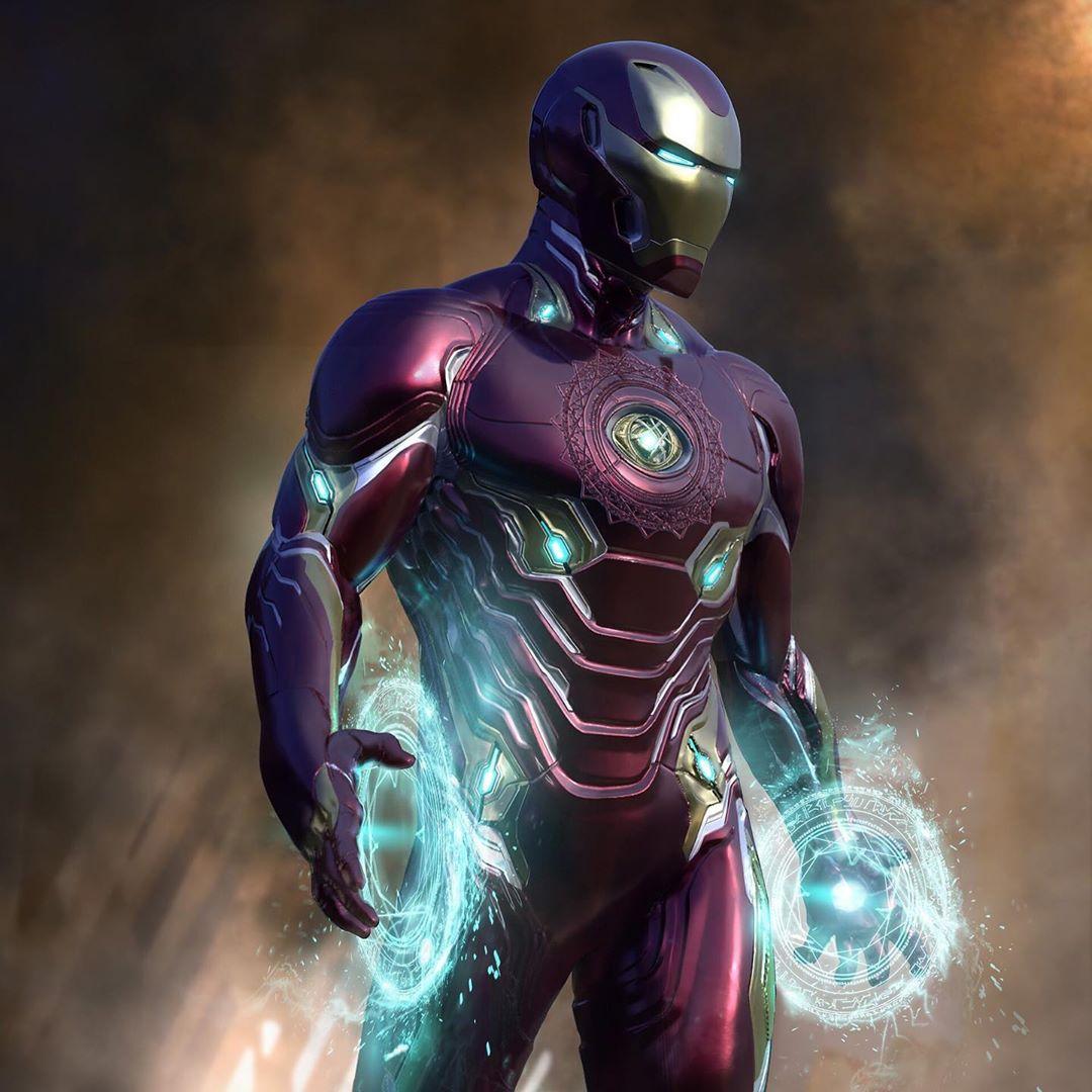 концепт арт стрэндж в костюме железного человека