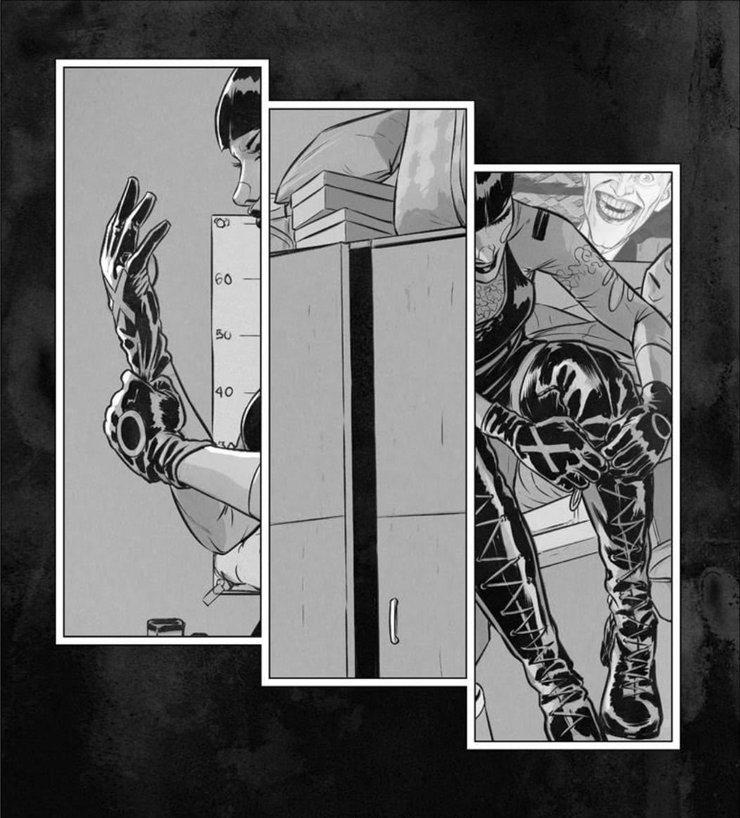 панчлайн против бэтмена
