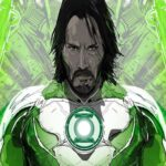 киану ривз стал новым зеленом фонарем в фан арте