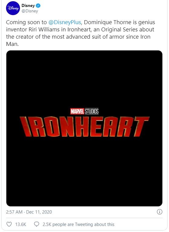 когда выйдет сериал Железное сердце от Марвел