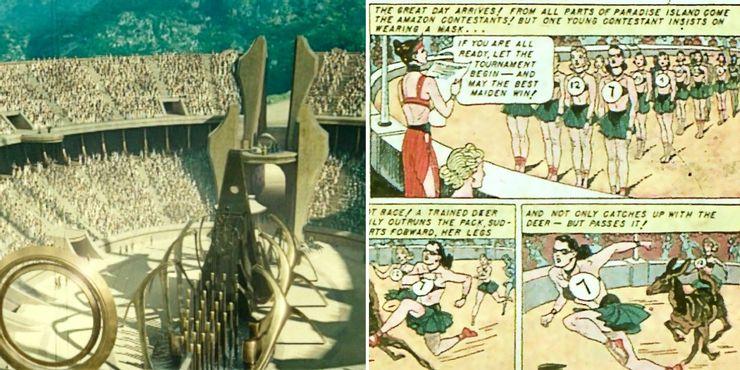 пасхалки чудо женщина 1984 Спортивные состязания Амазонок