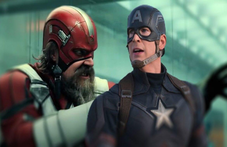 Красный Страж дрался с Капитаном Америка